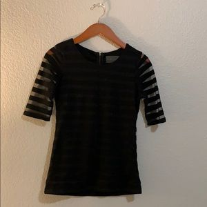 ANTHRO striped top with seethru sleeves